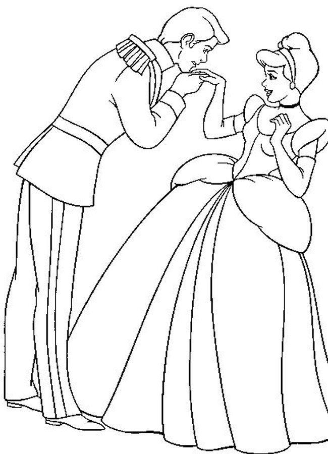 Kids Page: - Cinderella - Disney Cute Princess Coloring Pages