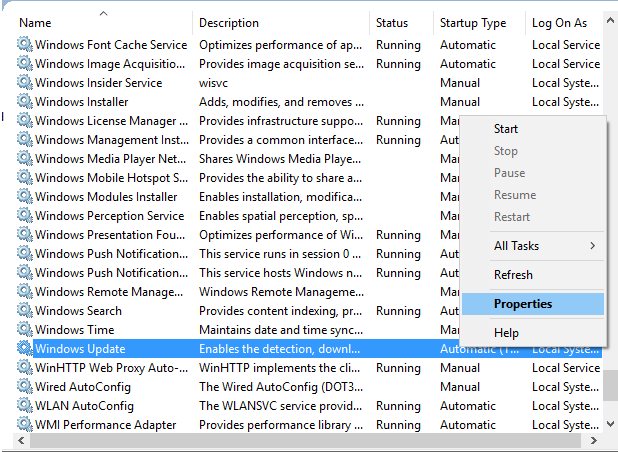 Windows service manual startup type