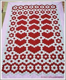 akhirnya selimut tampung seribu patchwork siap selepas 9 bulan