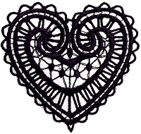 lace heart black png transparent for scrapbooking free download