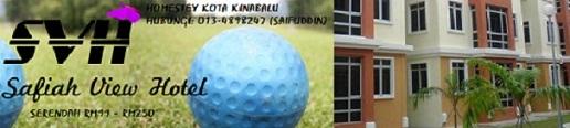 HOMESTEY DI KOTA KINABALU, TAIPING & BUKIT MERAH (SERENDAH RM99*) HUBUNGI: 013-4898247 (SAIFUDDIN)