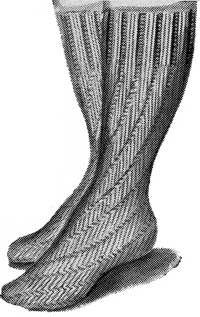 Free 1940's Knitting - Spiral Bedsocks pattern