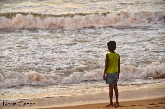 Mirando el Indico en Negombo