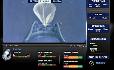 LIVE VIDEO - Mission To The Edge of Space –  Record-Breaking Freefall Jump 10-14-12
