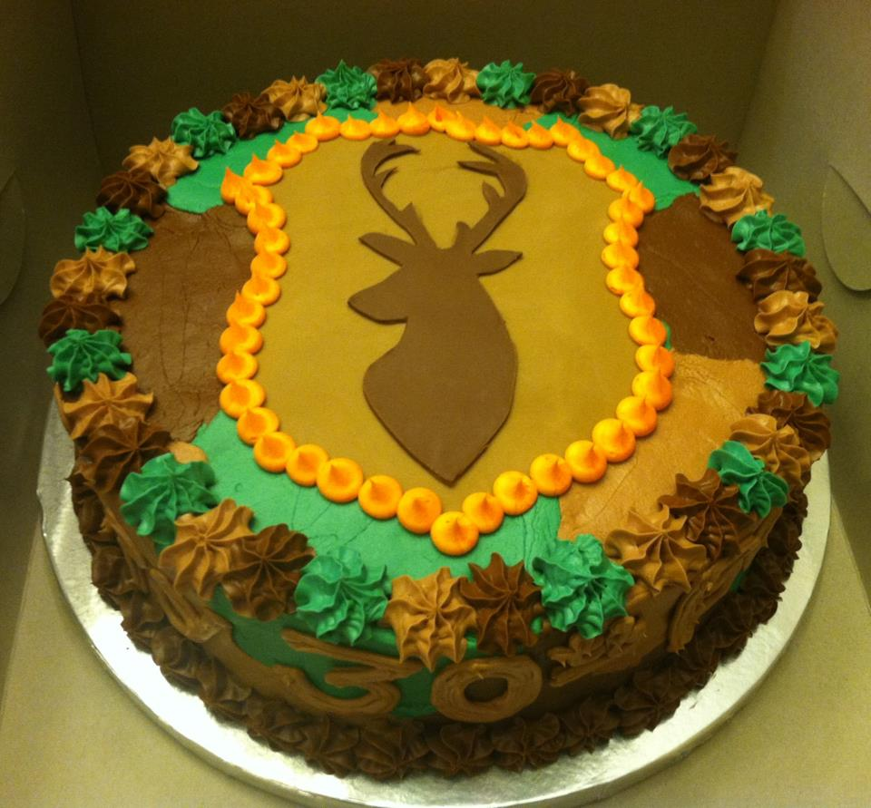 Deer Head Baby Shower Cake