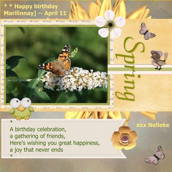 Happy birthday to you Marilynnay ...