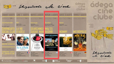 21:45 PROYECCIÓN HOMELAND + VALS CON BASHIR 5ago'15 en Salón García (cine)