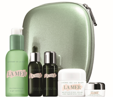 More of a Gift-with-Purchase Travel set, The Radiant Collection is presented with little puppy-sized versions of Crème de la Mer, The Radiant Serum, ...