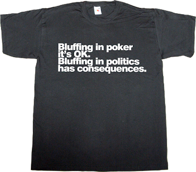 bluff poker Politics catalonia independence freedom t-shirt ephemeral-t-shirts