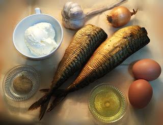 Bocadillo con caballa ahumada y huevo - ingredientes