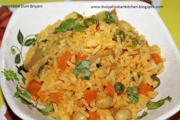vegetable dum briyani