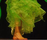 Zöld hastáncszoknya