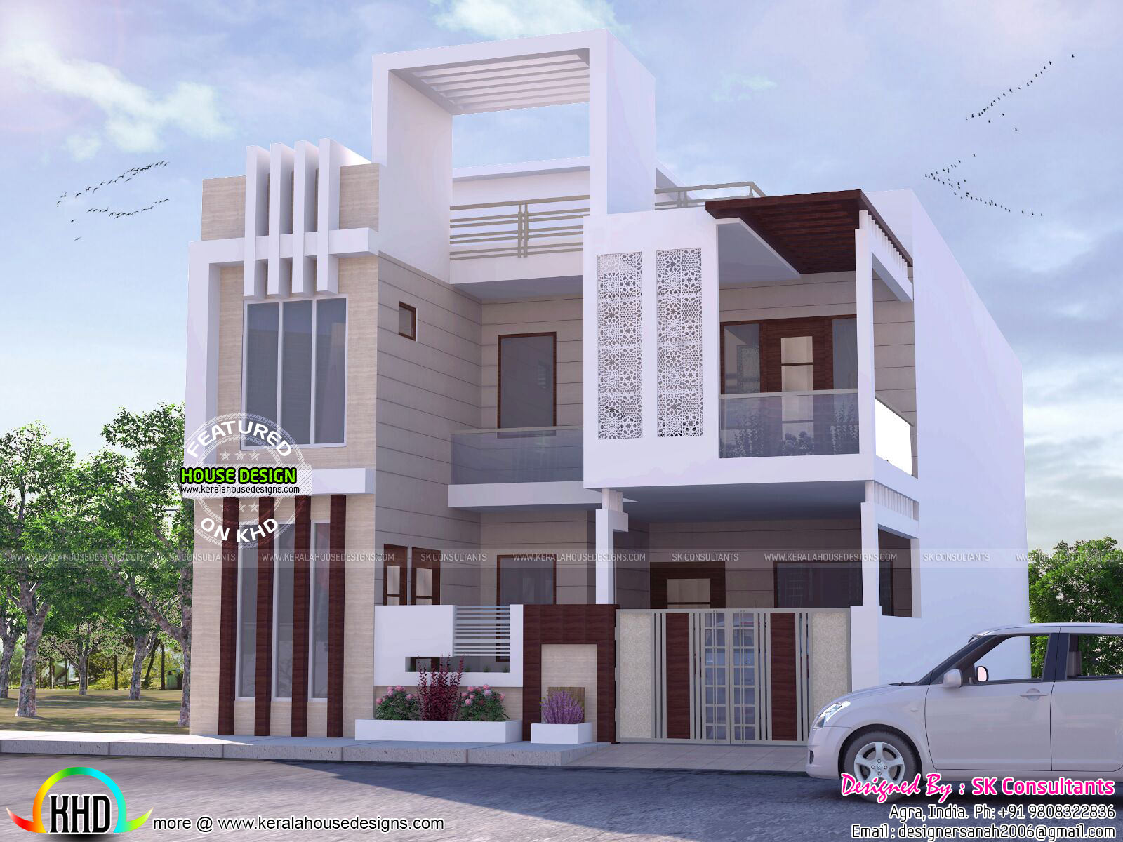 Kerala home design and floor plans decorative house plan for Home exterior design consultant