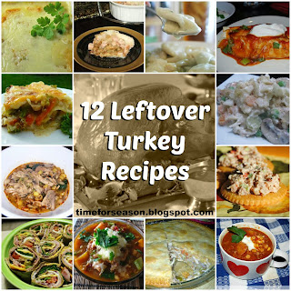 http://timeforseason.blogspot.com/2013/11/12-leftover-turkey-recipes.html