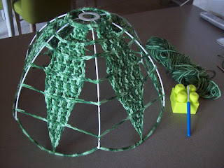 crochet an old light shade 8