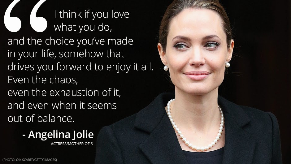Angelina Jolie Quote about motherhood