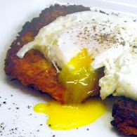Daphne Oz's Poached Eggs With Sweet Potato Pancakes 10.17.11