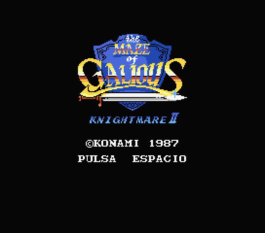 The Maze of Galious para MSX mejorado y traducido al español