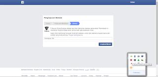 Penscanan akun Facebook sedang berlangsung