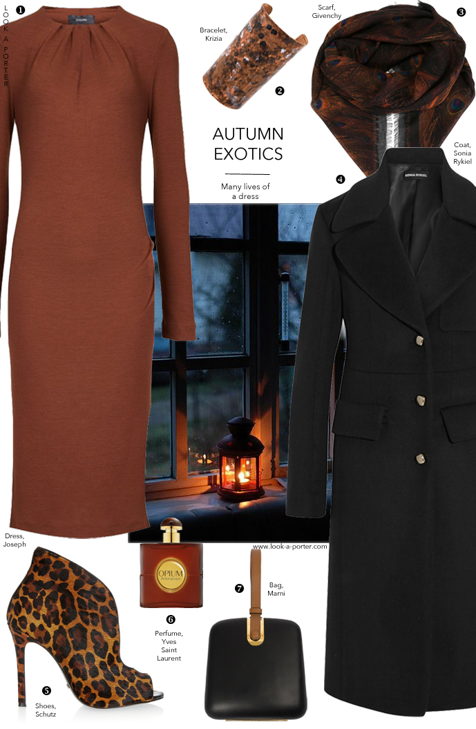 Joseph dress styled with Givenchy, Krizia, Sonia Rykiel, Schutz & Marni via www.look-a-porter.com style & fashion blog