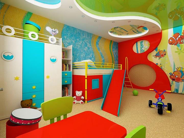 Dormitorios con mucho color para ni as dormitorios - Literas infantiles divertidas ...