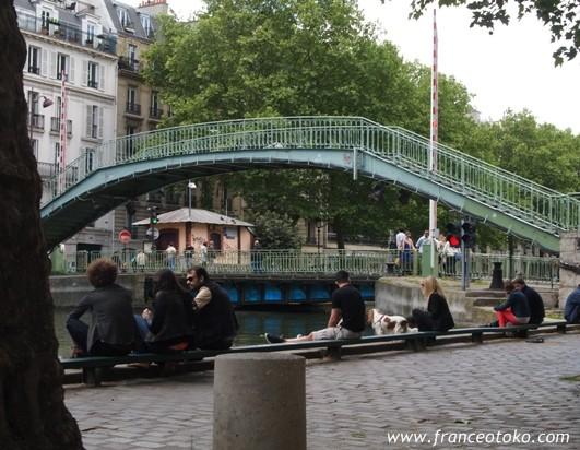パリ、アメリ、サンマルタン運河