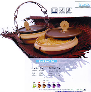Info & Harga Twin Tulip Tulipware 2014 : Stack Bowl Set | Low Stack Bowl | Tall Stack Bowl