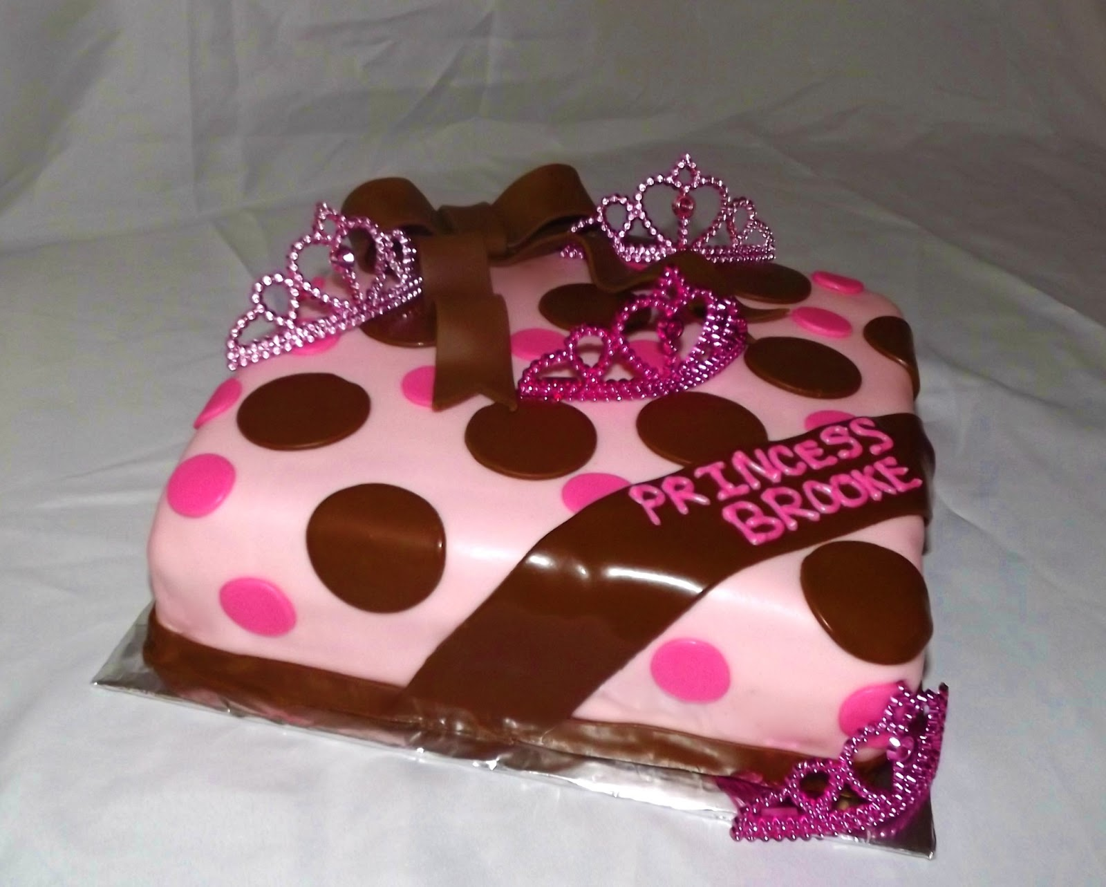 Mandy s cakes Pink and Brown Princess baby shower cake