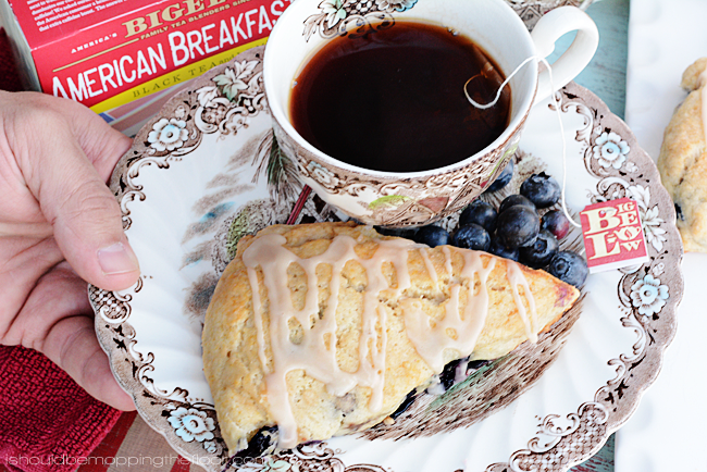 Blueberry Scones with Tea Glaze | Simple and delicious.