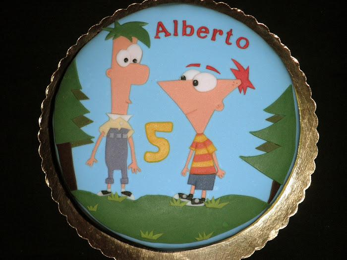 Tarta Phineas y Ferb