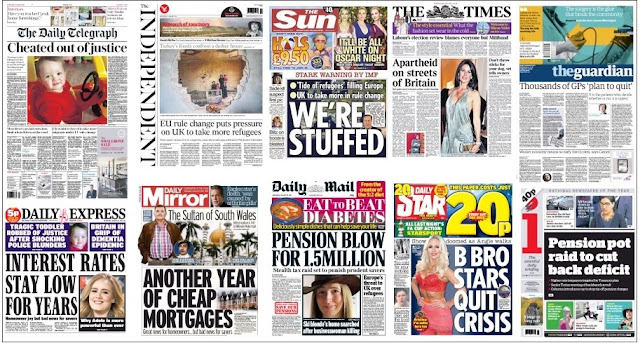 front pages jan 20