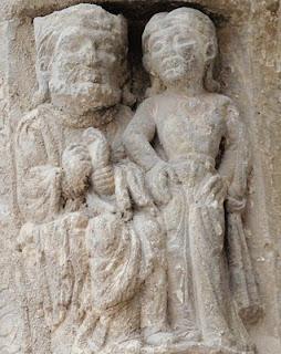 Santiago de Agüero (Huesca), Salomé y Herodes (ménsula)