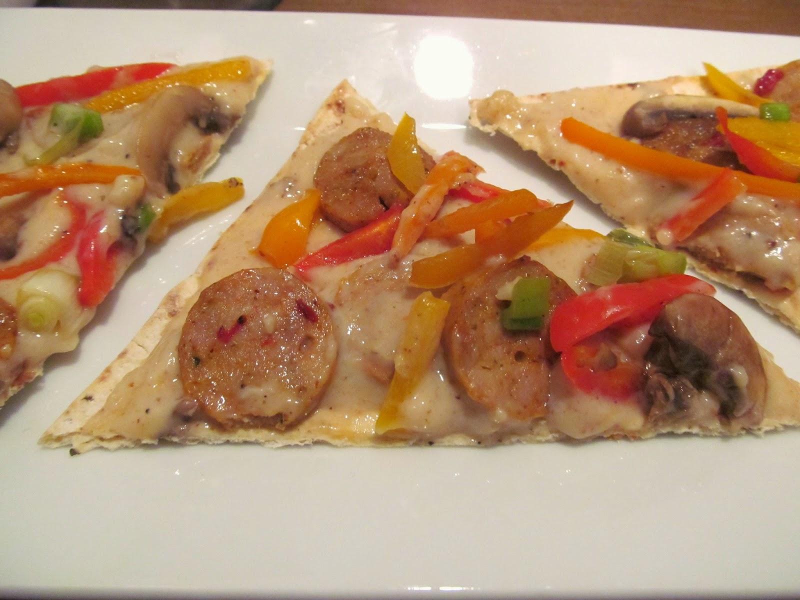 sausage flatbread appetizer