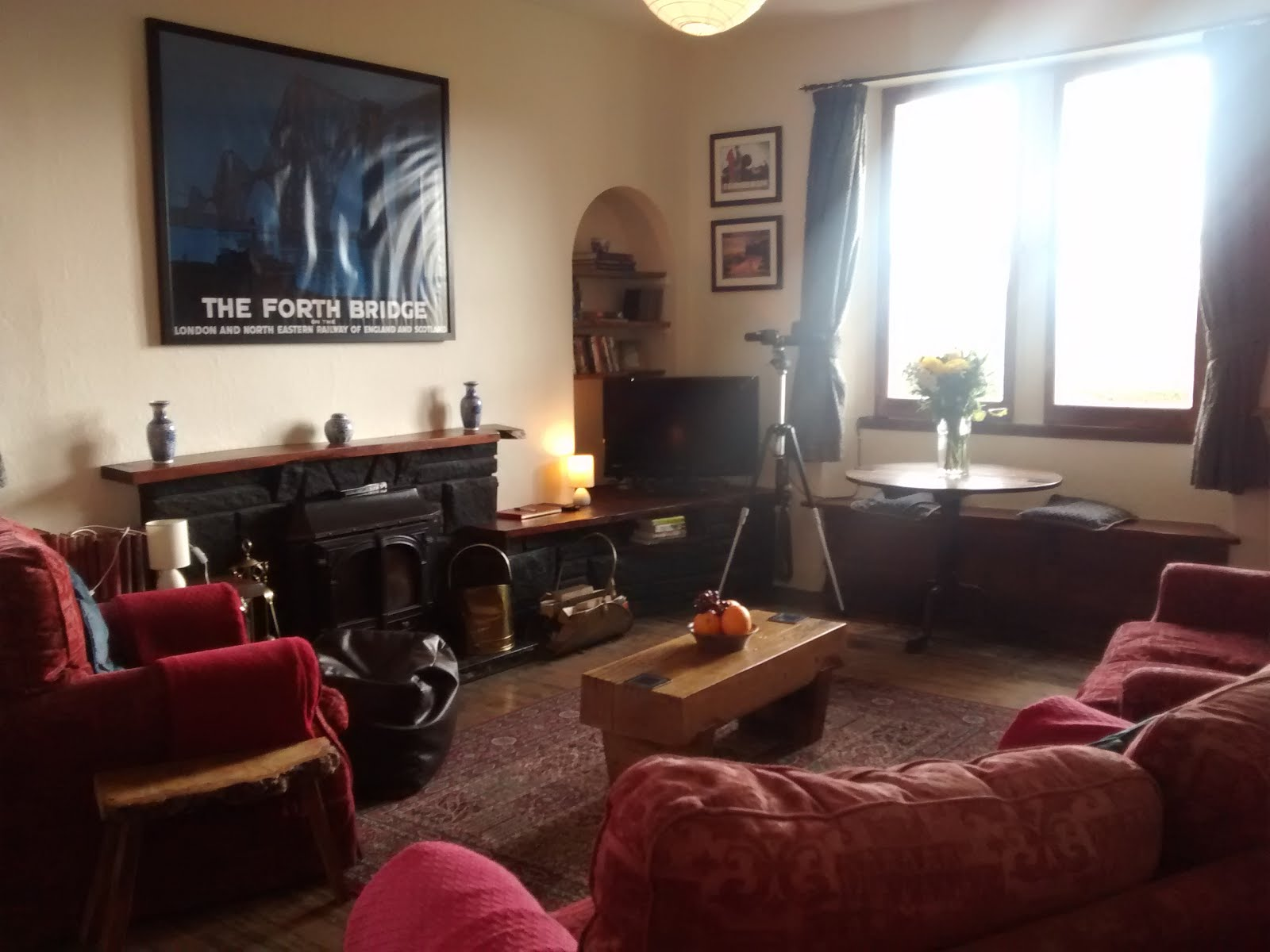 Holiday cottage near Edinburgh. Living room