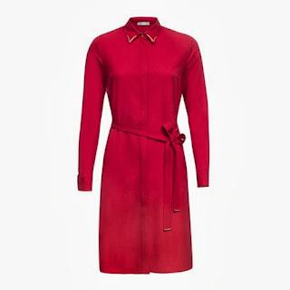 gömlek elbise vişne rengi