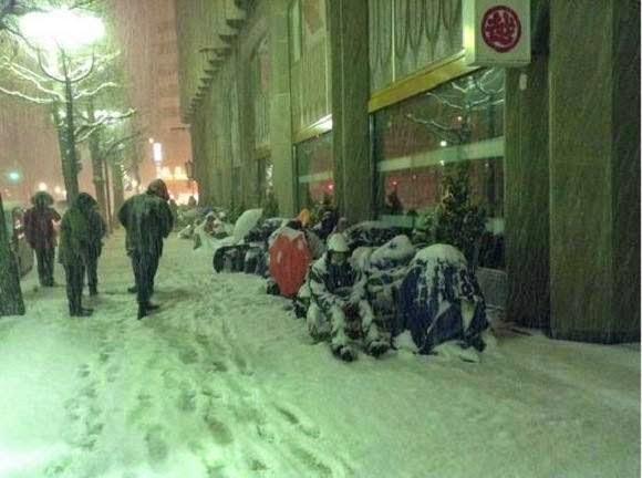 Tại Nhật Bản mùa đông