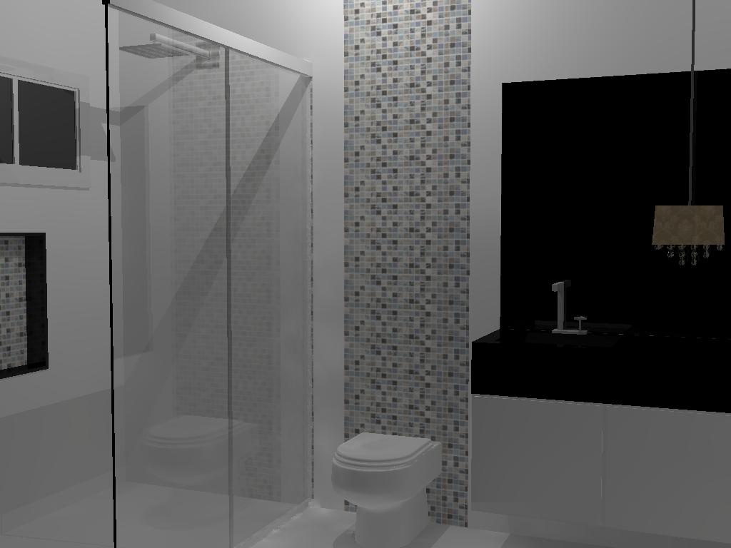 banheiro com silestone preto stelar.jpg #6B6760 1024x768 Banheiro Com Banheira Bege