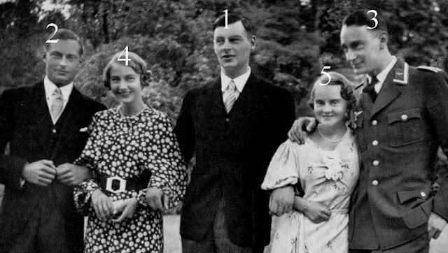 Wilhelm, Friedrich, Louis Ferdinand, Cecilie et Alexandrine de Prusse