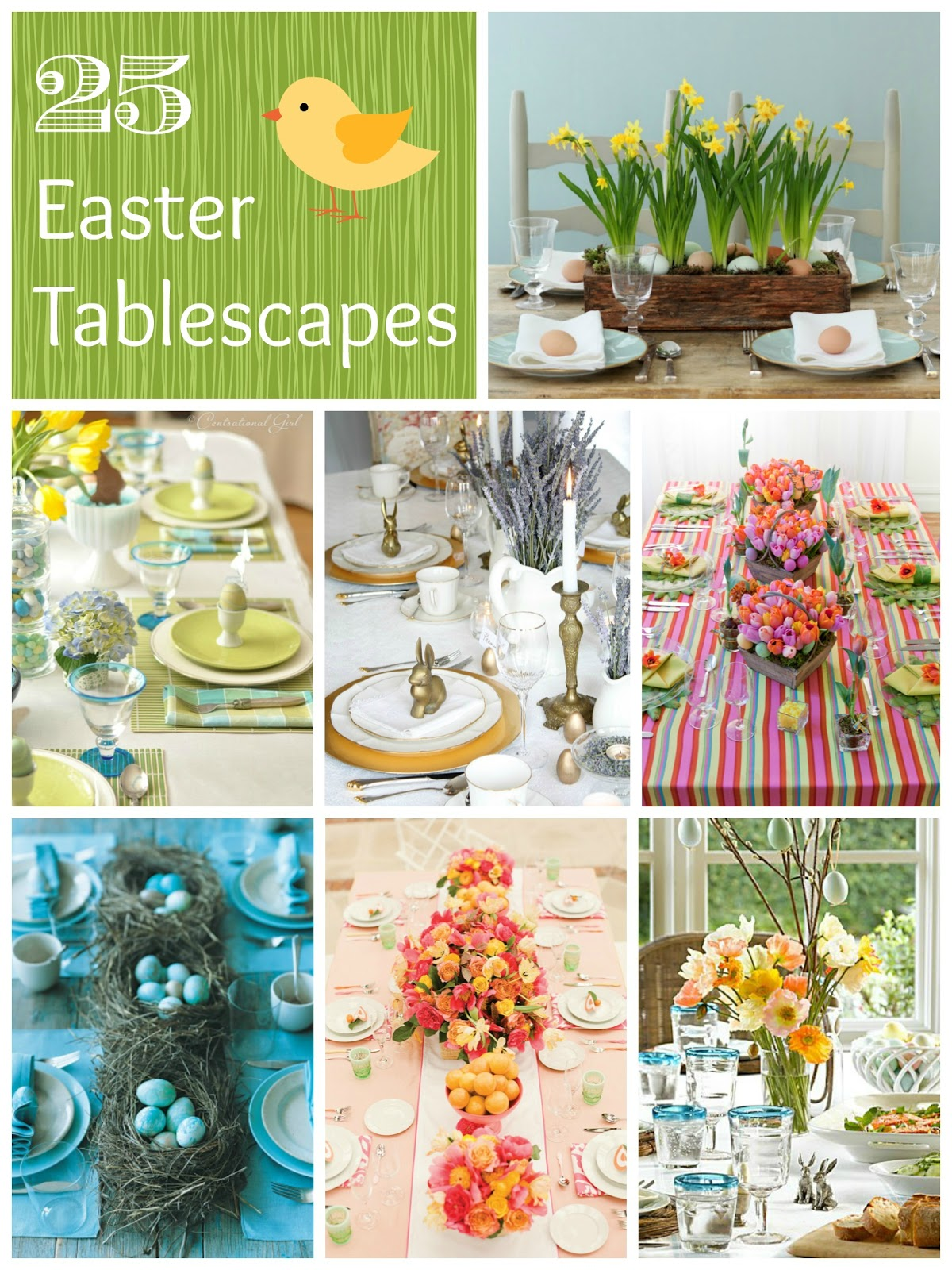 25 easter tablescape ideas