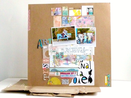'Art is Trash' scrapbook page by Julie Kirk