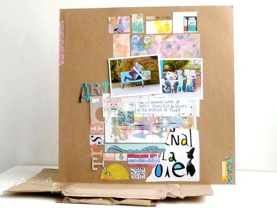 'Art is Trash' scrapbook page by Julie Kirk