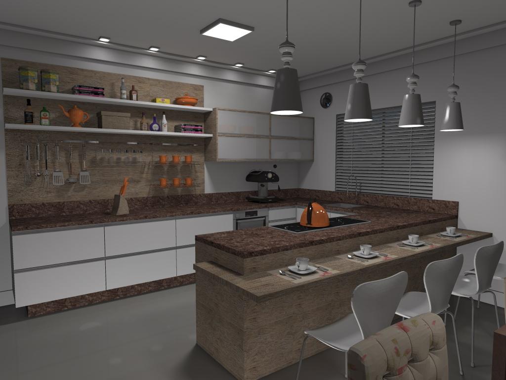 Franken Arquitetura e Interiores: PROJETO DE INTERIORES COZINHAS #9E682D 1024 768