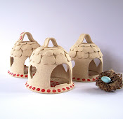 Stoneware Bird Feeders