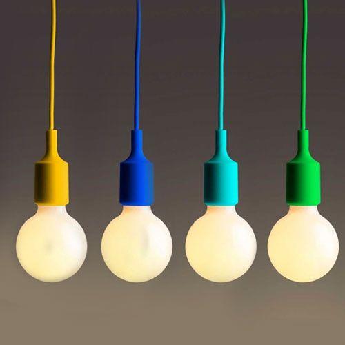 Luminária reutilize boquilhas