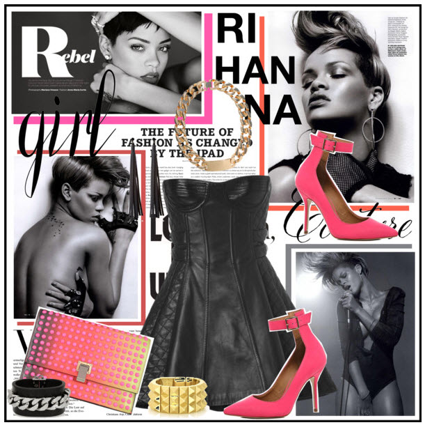 Bust a Inner Rihanna Rockstar Fashion Look