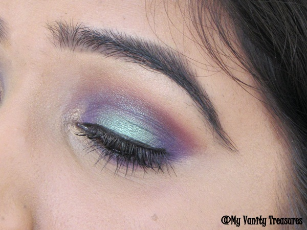 Teal and Purple Smokey Eyes