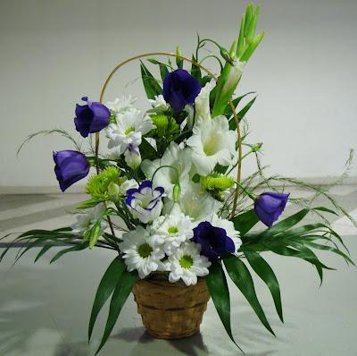 Кошница с цветя за дома