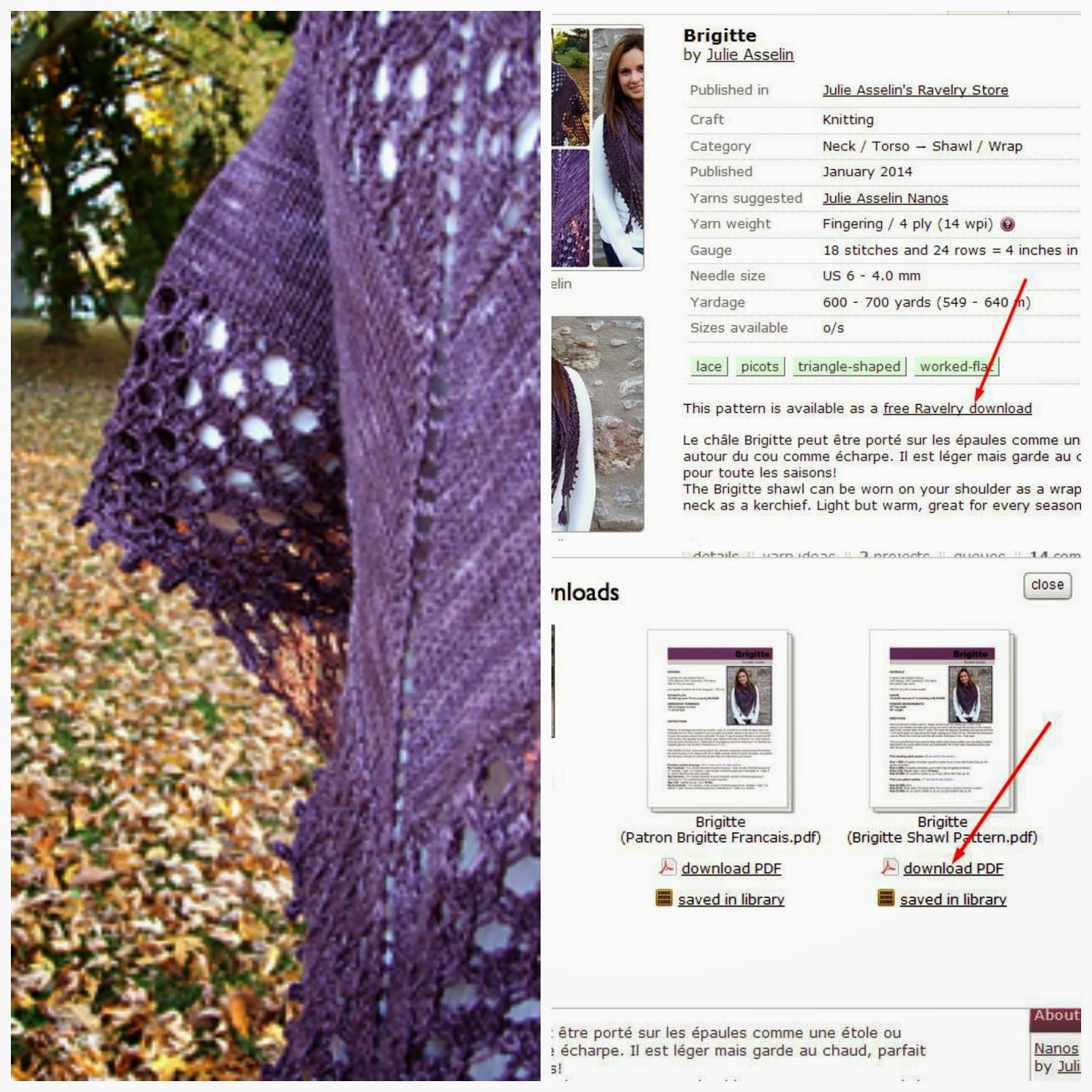 Pletenje : šal  marama   besplatne mustre [sheme]