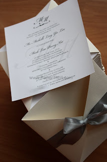 Luxurious simple elegant pocket wedding invitation card