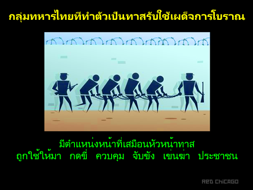 กลุ่มทหารไทยที่ทำตัวเป็นทาสรับใช้เผด็จการโบราณ